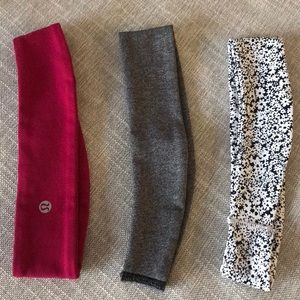 Lululemon headbands. 3 pack